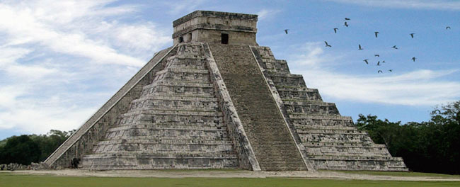mayan pyramids were used primarily for